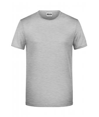 Homme Tee-Shirt homme bio Gris-chiné 8374
