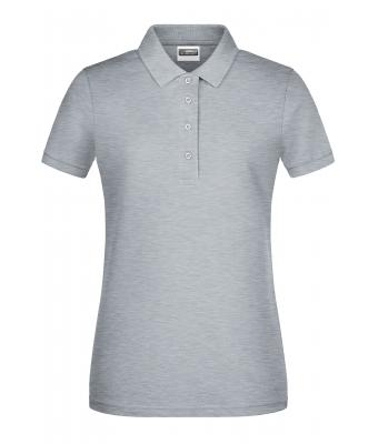 Donna Ladies' Basic Polo Grey-heather 8478