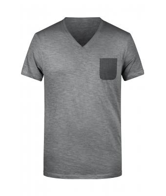 Uomo Men's Slub-T Graphite 8481