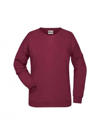 Damen Ladies' Sweat Burgundy-melange 8652