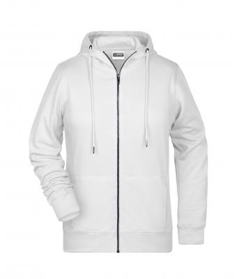 Donna Ladies' Zip Hoody White 8656