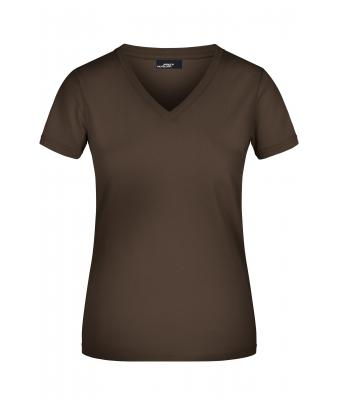 Damen Ladies' V-T Brown 7182
