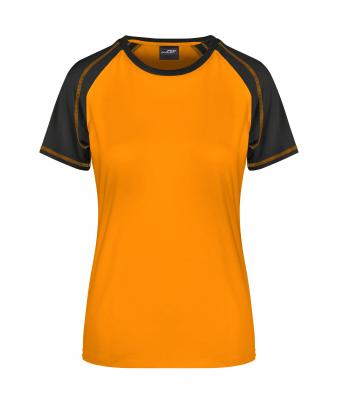 Donna Ladies' Raglan-T Orange/black 7189
