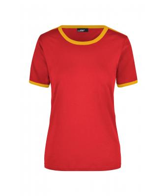 Donna Ladies' Flag-T Red/gold-yellow 7196