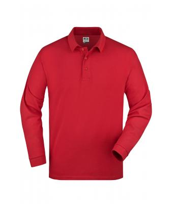 Unisex Polo Piqué Long-Sleeved Red 7200