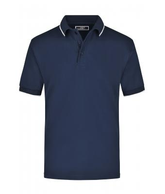Herren Polo Tipping Navy/white 7207
