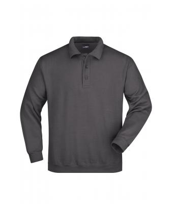 Unisexe Sweat-shirt col polo Carbone 7211