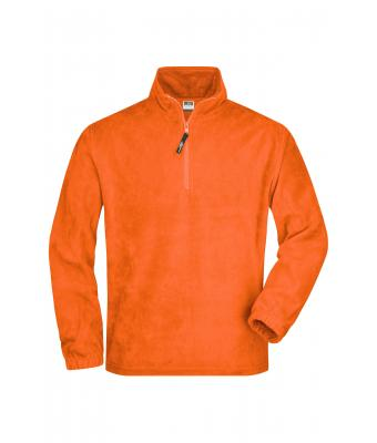 Unisex Half-Zip Fleece Orange 7213