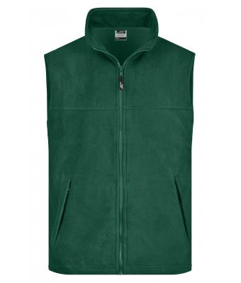 Men Fleece Vest Dark-green 7216