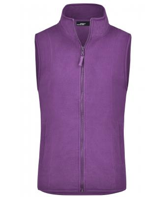 Ladies Girly Microfleece Vest Purple 7220