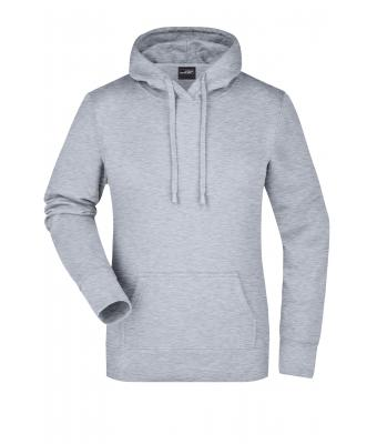 Donna Ladies' Hooded Sweat Grey-heather 7223
