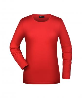 Ladies Tangy-T Long-Sleeved Red 7226