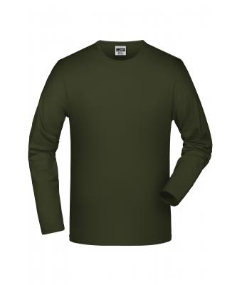 Men Elastic-T Long-Sleeved Olive 7228