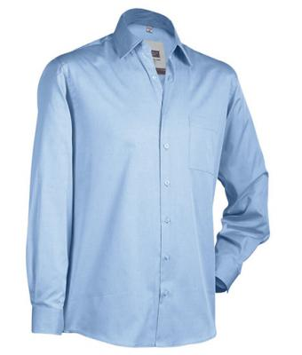 Men Business Shirt Long Sky-blue 7233