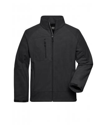 Herren Men's Bonded Fleece Jacket Carbon/black 7265