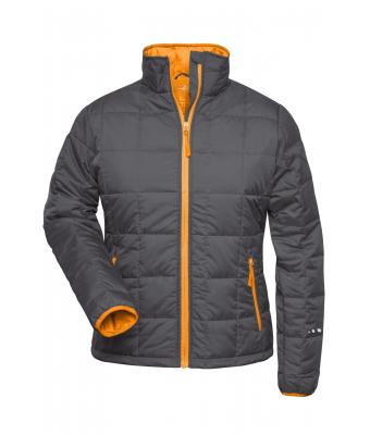 Donna Ladies' Padded Light Weight Jacket Carbon/orange 7911