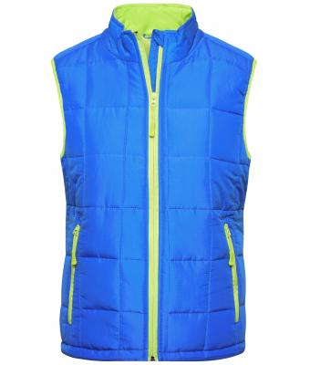 Donna Ladies' Padded Light Weight Vest Aqua/lime-green 7913
