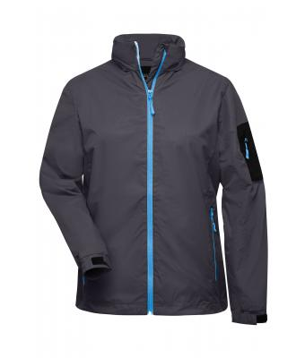 Damen Ladies' Windbreaker Carbon/aqua 7917