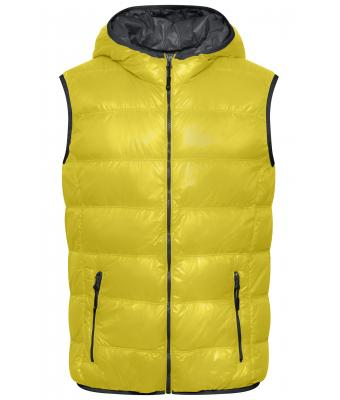 Herren Men's Down Vest Yellow/carbon 8105