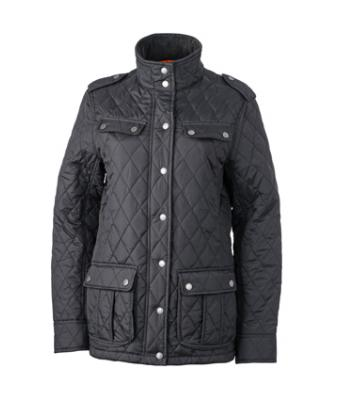 Damen Ladies' Diamond Quilted Jacket Black 8136