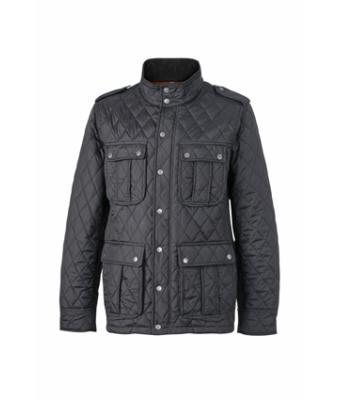 Uomo Men's Diamond Quilted Jacket Black 8137