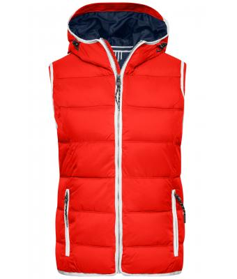 Damen Ladies' Maritime Vest Red/white 8185