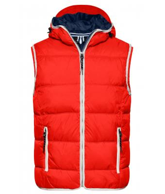 Herren Men's Maritime Vest Red/white 8186