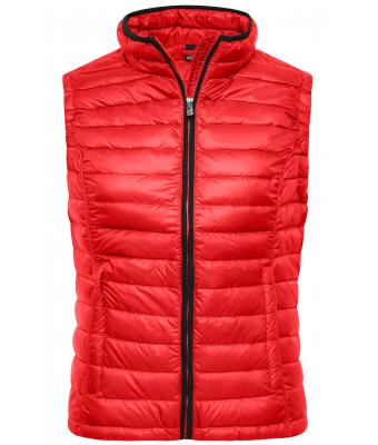 Damen Ladies' Quilted Down Vest Red/black 8213