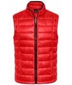 Uomo Men's Quilted Down Vest Red/black 8214