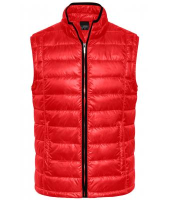 Herren Men's Quilted Down Vest Red/black 8214
