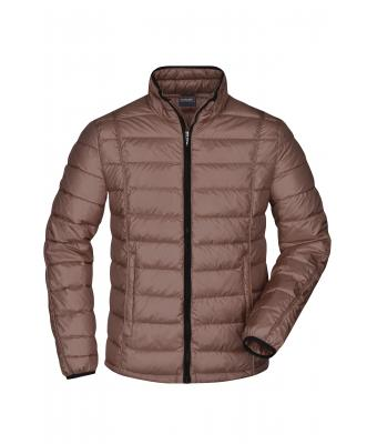 Uomo Men's Quilted Down Jacket Coffee/black 8216