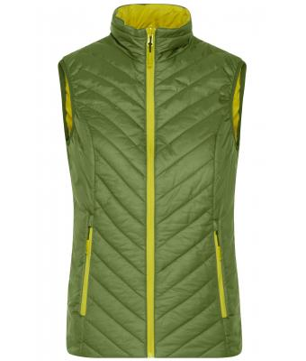Damen Ladies' Lightweight Vest Jungle-green/acid-yellow 8269