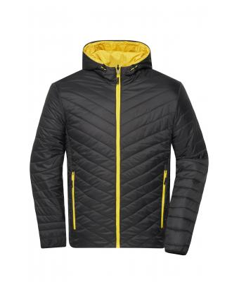 Herren Men's Lightweight Jacket Black/yellow 8272