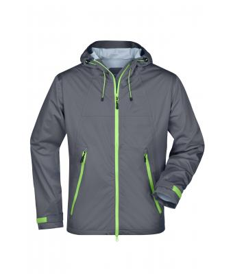 Herren Men's Outdoor Jacket Iron-grey/green 8281
