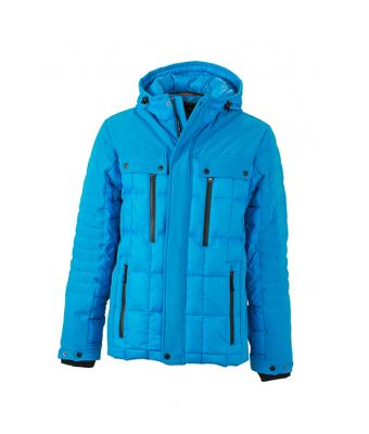 Uomo Men's Wintersport Jacket Aqua/black 8301