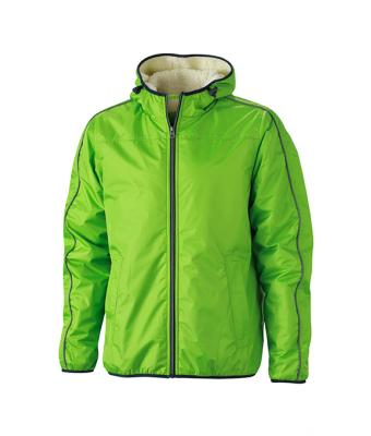 Herren Men's Winter Sports Jacket Spring-green/off-white 8303