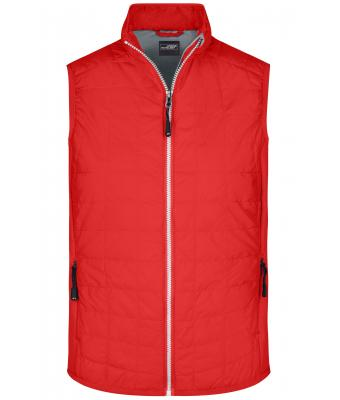 Homme Gilet hybride homme Rouge-clair/argent 8344
