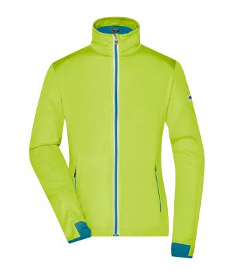 Donna Ladies' Sports Softshell Jacket Bright-yellow/bright-blue 8407