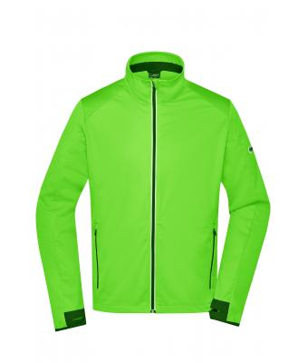 Uomo Men's Sports Softshell Jacket Bright-green/black 8408