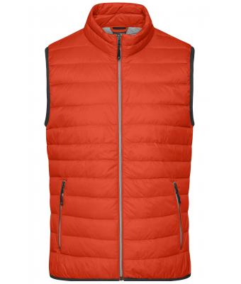 Herren Men's Down Vest Burnt-orange/silver 8495