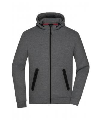 Men Men's Hooded Jacket Dark-melange 8613