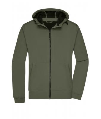 Uomo Men's Hooded Softshell Jacket Olive/camouflage 8618