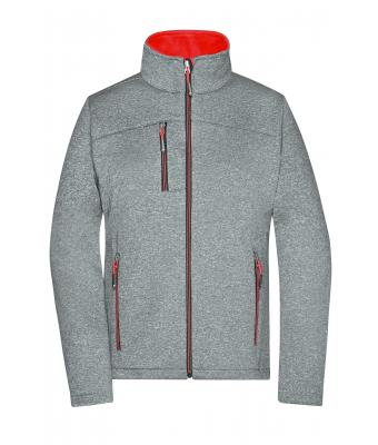 Ladies Ladies' Softshell Jacket Dark-melange/red 8615