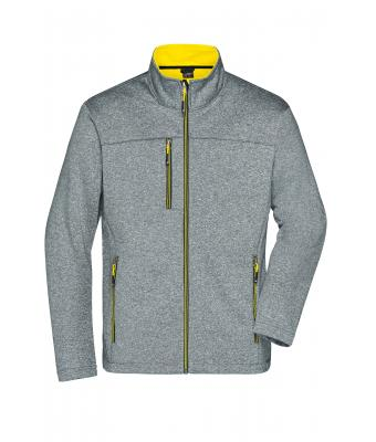 Men Men's Softshell Jacket Dark-melange/yellow 8619