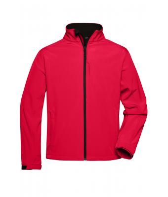 Herren Men's Softshell Jacket Red 7306