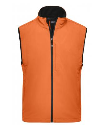 Men Men's Softshell Vest Pop-orange 7308