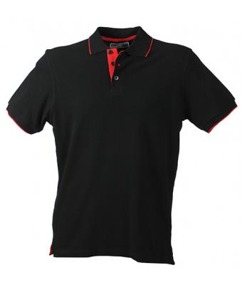 Unisex Campus Polo Black/red 7313