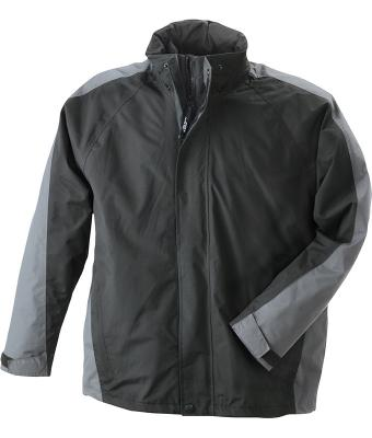 Herren Two-In-One Jacket Black/anthracite 7325