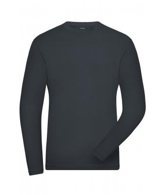 Herren Men's BIO Stretch-Longsleeve Work - SOLID - Carbon 8705