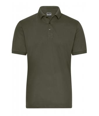 Uomo Men's BIO Stretch-Polo Work - SOLID - Olive 8703